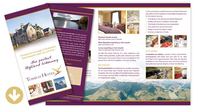 Tomich Hotel Leaflet Download